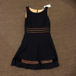 erin, navy blue new party dress